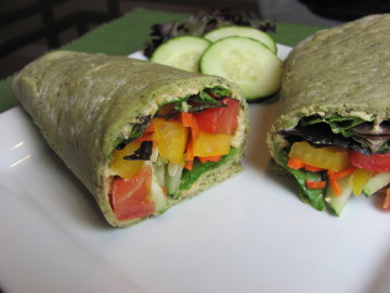 Vegan Summertime Veggie Wrap